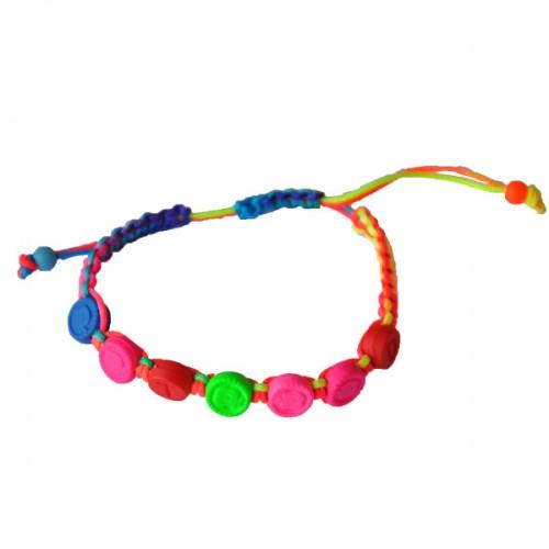 Bracelet enfant à fleurs fluorescentes