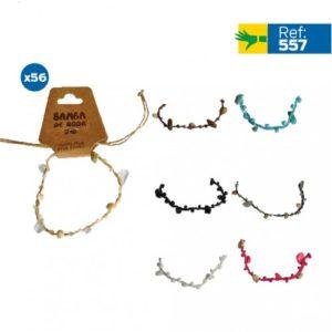Bracelets fantaisie pierres et coquillage