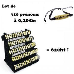 310 bracelets prénoms