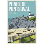 AF45- Lot de 5 Affiches Phare de Pontsuval