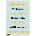 AF48- Lot de 5 Affiches Welcome - Bienvenue
