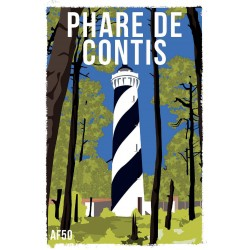 AF50- Lot de 5 Affiches Phare de Contis
