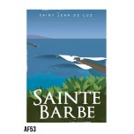 AF53- Lot de 5 Affiches Sainte Barbe