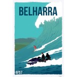 AF57- Lot de 5 Affiches vague Belharra