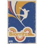 AF60- Lot de 5 Affiches Biarritz (design 80's)