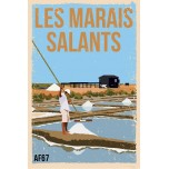 AF67- Lot de 5 Affiches Les Marais Salants