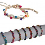 D-129 -Lot de 50 Bracelets Perles  Reconditionné