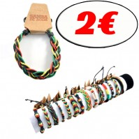 D-114-2E - Lot de 50 bracelets rastas Reconditionné