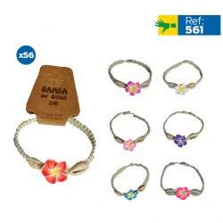 B-561 - Lot de 56 bracelets rafia et coquillages