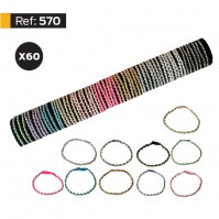 B-570 - Lot de 60 Bracelets Strass sur tube