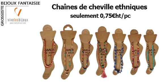 Des chaînes de cheville ethniques