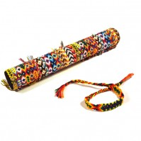 B-207 - Lot de 36 Bracelets brésil large + tube