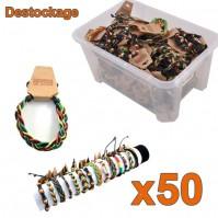 Lot de 50 bracelets brésiliens rastas