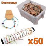 D-115 - Assortiment 50 bracelets nacre Déstockage