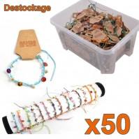 Assortiment 50 bracelets nacre