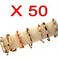 Lot de 50 Bracelets Coquillage