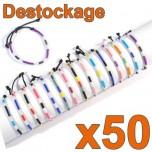 D-145 - Lot de 50 Bracelets réglables ENFANT Déstockage