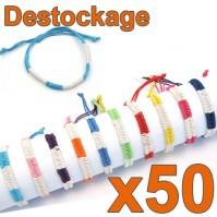 Lot de 50 Bracelets tressés Colors taille Enfant - Déstockage 2014
