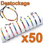 D-151 -Lot de 50 Bracelets fins réglables - Déstockage