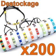 Lot de 200 Bracelets brésil larges - Déstockage Collection 2014